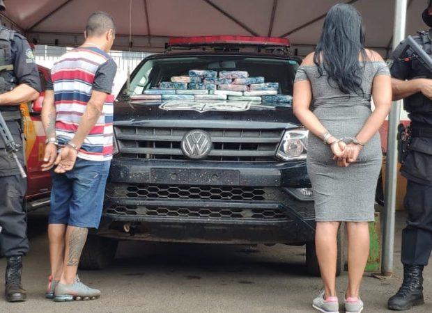 O casal foi preso em flagrante e encaminhado para a Delegacia da Policia Federal (DPF) do município de Jataí
