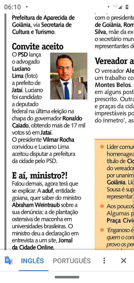 Como candidato federal Luciano teve mais de 17 mil votos em Jataí