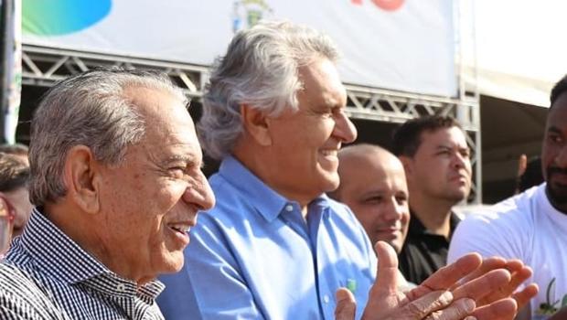 Iris Rezende, prefeito de Goiânia, e Ronaldo Caiado, governador de Goias   Foto: Reprodução