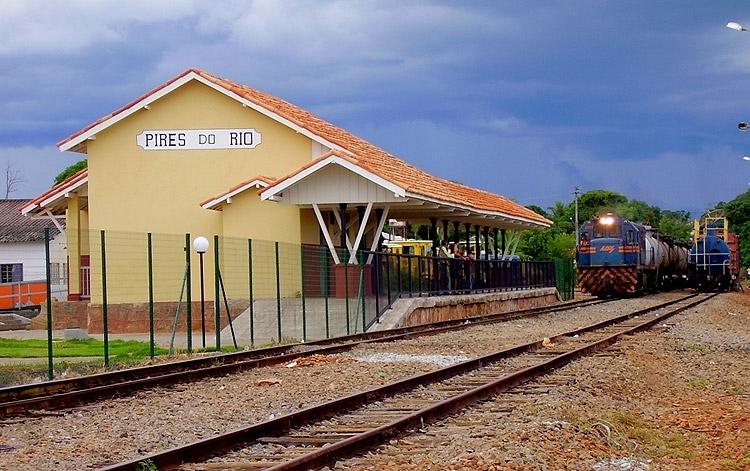 Estação restaurada em Pires do Rio / Foto: Divulgação