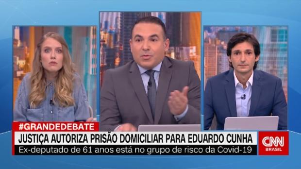 Programa Grande Debate, em que Gabriela Prioli era comentarista / Foto: Reprodução /CNN