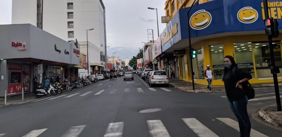 Comércio de Uberlândia foi reaberto no dia 27 de abril — Foto: Vanessa Pires/G1